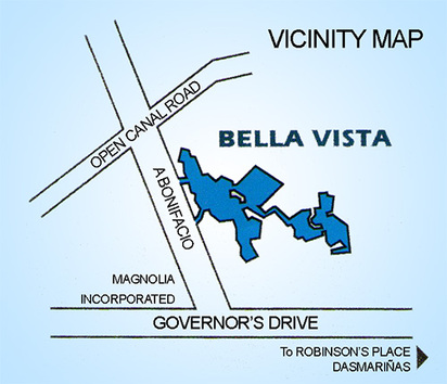 Bella Vista Location Map